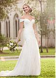 Alluring Tulle Off-the-shoulder Neckline Mermaid Wedding Dresses with Lace Appliques