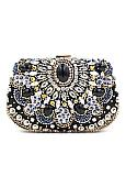 In Stock Gorgeous Handbags with Crystal Evening Clutches