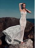 Fantastic Lace & Satin Sweetheart Neckline Sheath Wedding Dresses With Lace Appliques