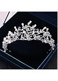 In Stock Charming Alloy Wedding Tiara With Imitation Pearls