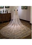 In Stock Fabulous Tulle Cathedral Wedding Veil With Stars